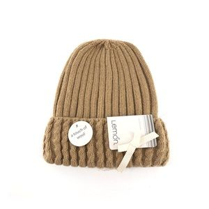 Lemon A Touch of Wool Knit Beanie Hat